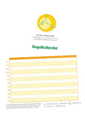 Grafik Arztpraxis: Regelkalender