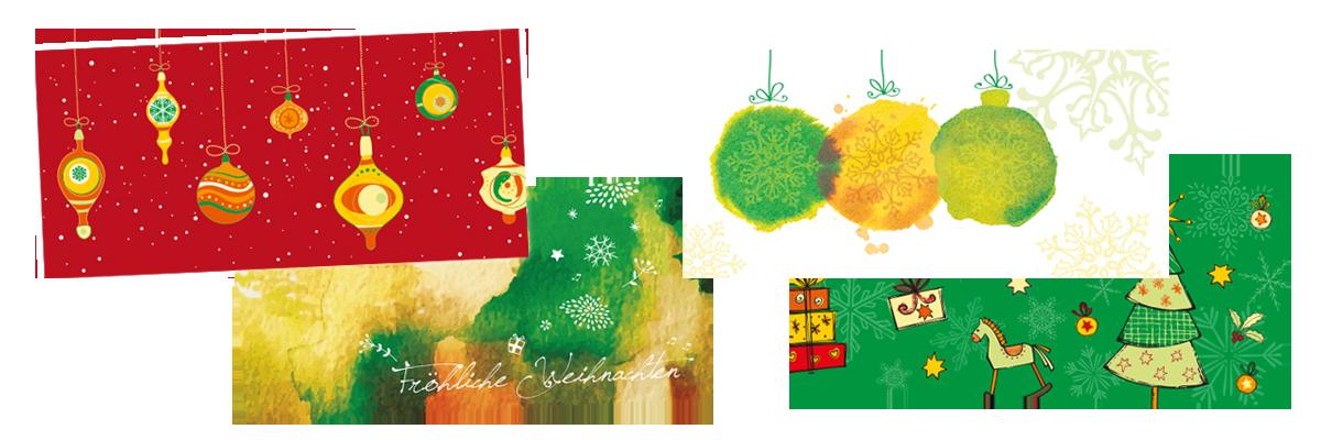 Arztpraxis Weihnachtskarten für Patient*innen