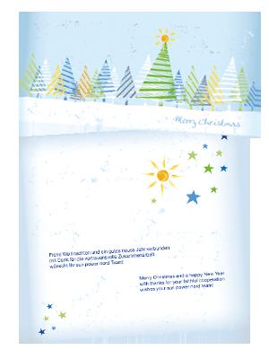 Energieunternehmen Weihnachtskarten