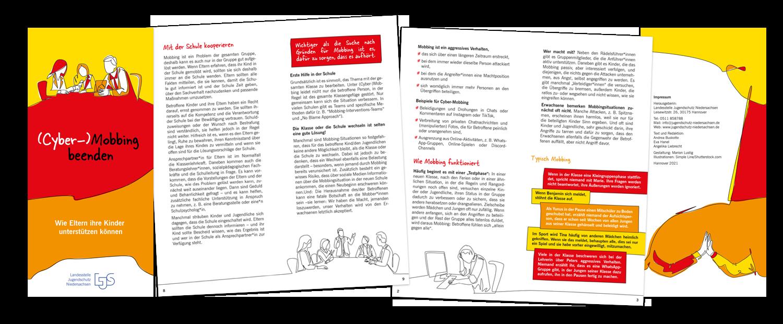 Grafik-Design: Broschüre (Cyber-)Mobbing