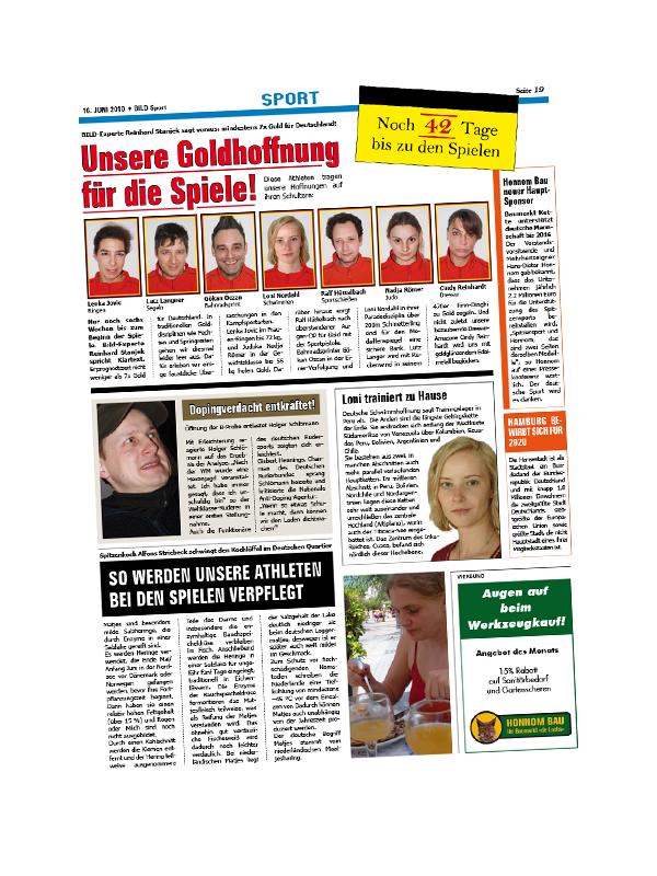 Grafik-Design: Filmrequisiten BILD-Zeitung