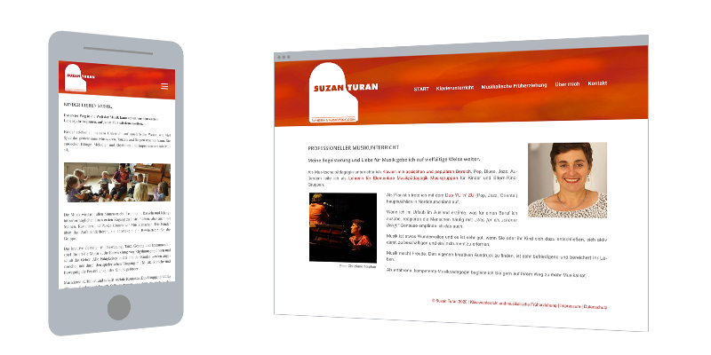 Web-Design: Musikerin & Unterricht