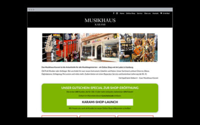 Musikinstumente-Store – Website & Online-Shop