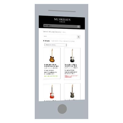 Responsive Design: Online-Shop (WooCommerce)