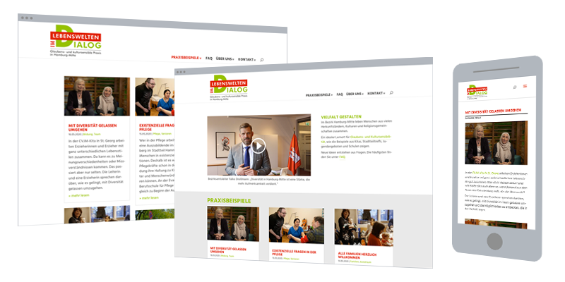 Projekt-Website: Webdesign, Logodesign