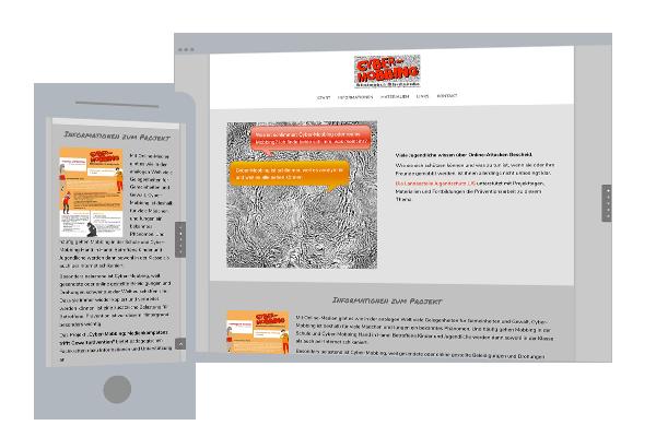 Web-Design | Projekt-Websites: Cyber-Mobbing