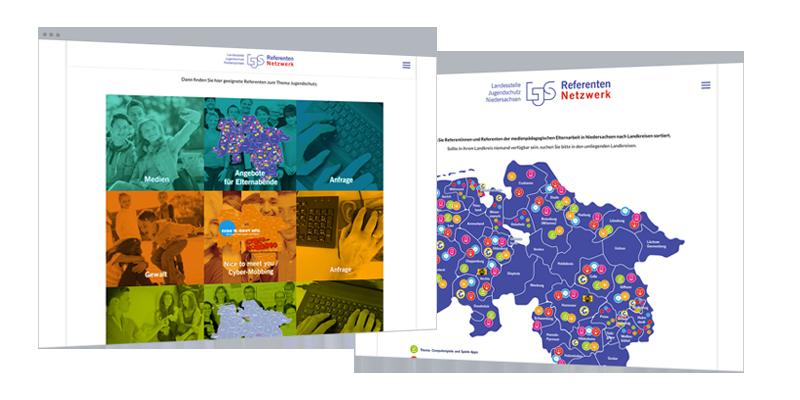 Web-Design | Projekt-Websites: Netzwerk Jugendschutz