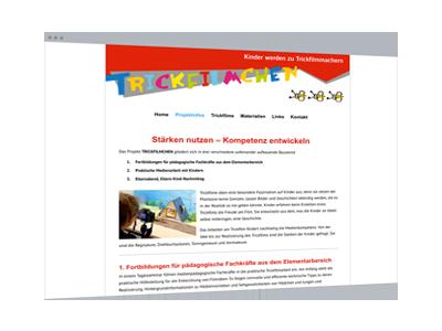 Web-Design | Projekt-Website: trickfilmchen