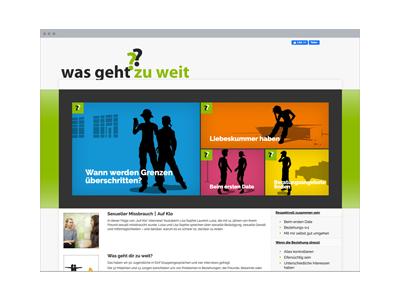 Web-Design | Projekt-Website: Was geht zu weit??
