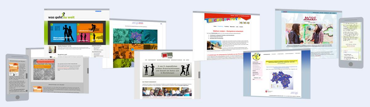Web-Design: Projekt-Websites