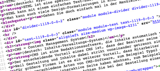 Was ist html? Und CMS?