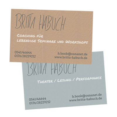 Grafik-Design: Visitenkarten Künstlerin & Coaching