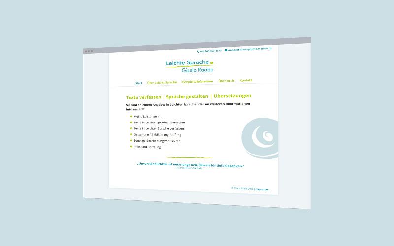 Unternehmens-Website: Leichte Sprache