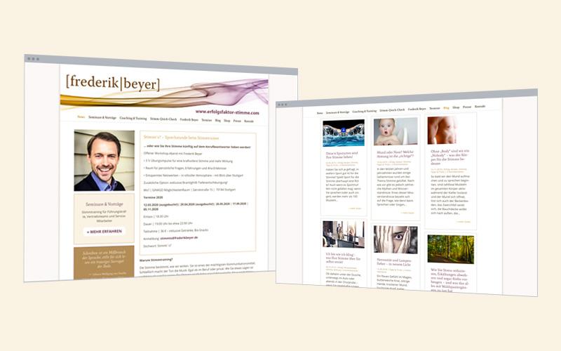 Unternehmens-Website: Stimmtrainer