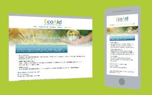 Web-Design: One Pager Firmendarstellung Nachhaltigkeits-Experte
