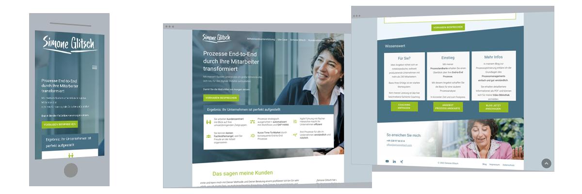 Website und Web-Design für Unternehmensberatung