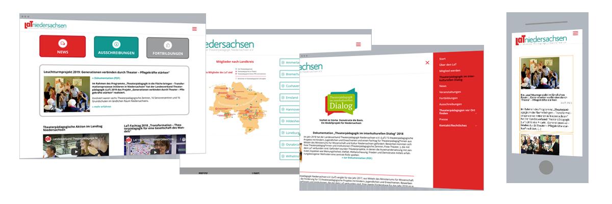 Web-Design: Verein Theaterpädagogik