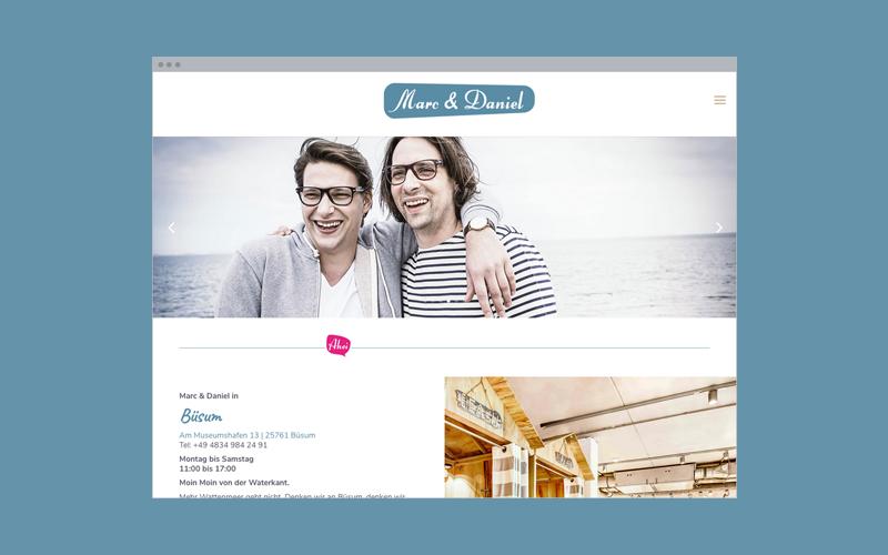 Unternehmens-Website: Fashion-Stores