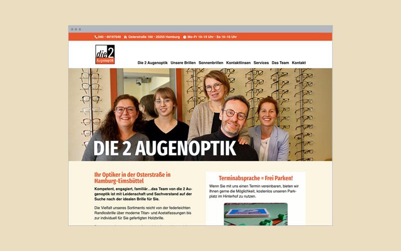 Unternehmens-Website: Optiker
