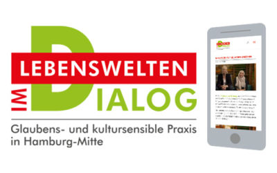 """Lebenswelten im Dialog"" – Logo, Website & Buch"