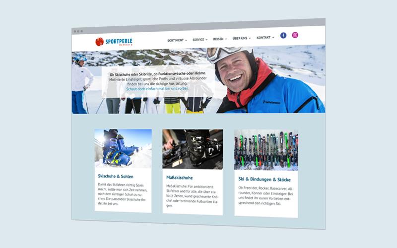 Unternehmens-Website: Sportgeschäft