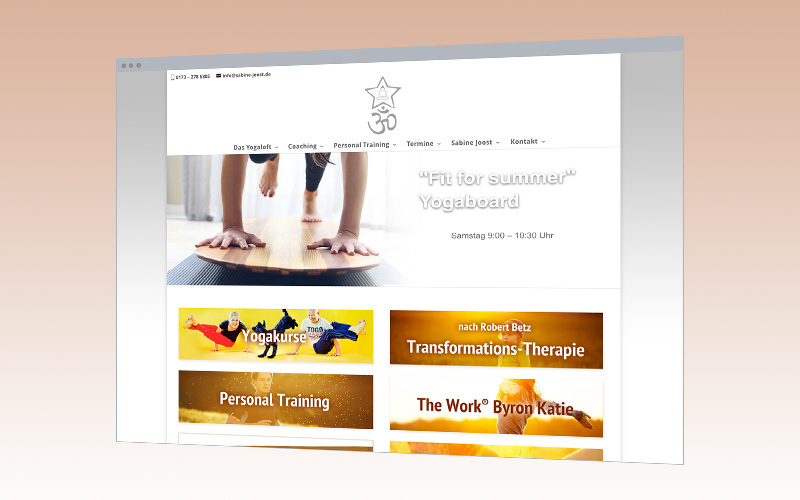 Web-Design: Yogastudio