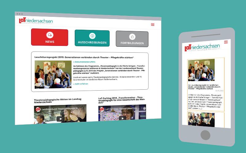 Web-Design: Verein LaT Niedersachsen
