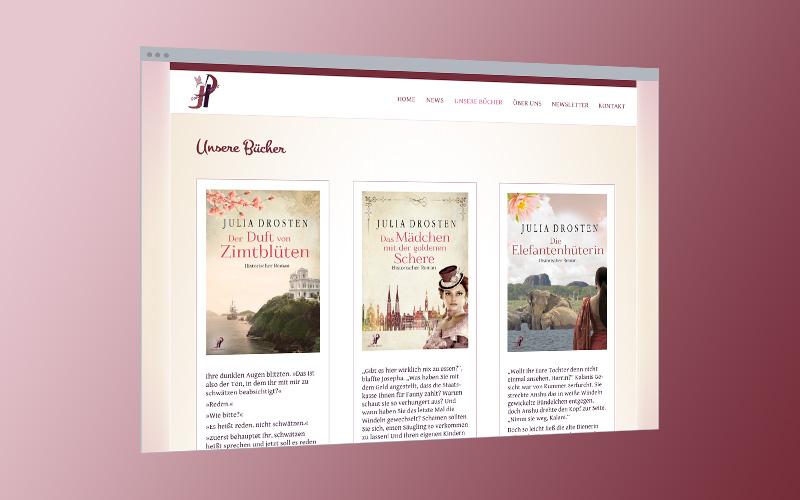 Unternehmens-Website: Autoren-Duo