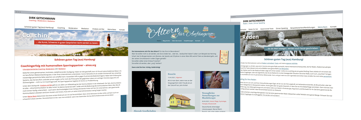 Web-Design: Coaching, Reden, Moderation, Blog
