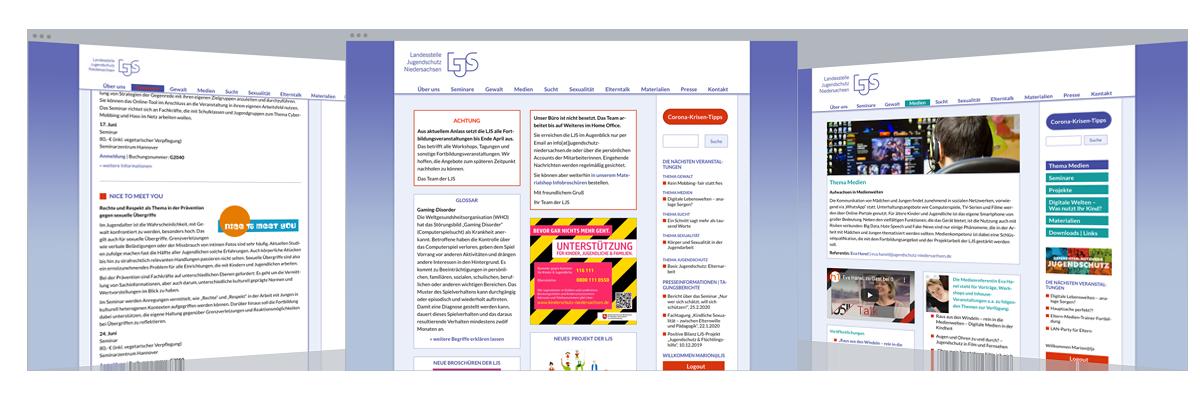 Web-Design: Landesstelle Jugendschutz Niedersachsen