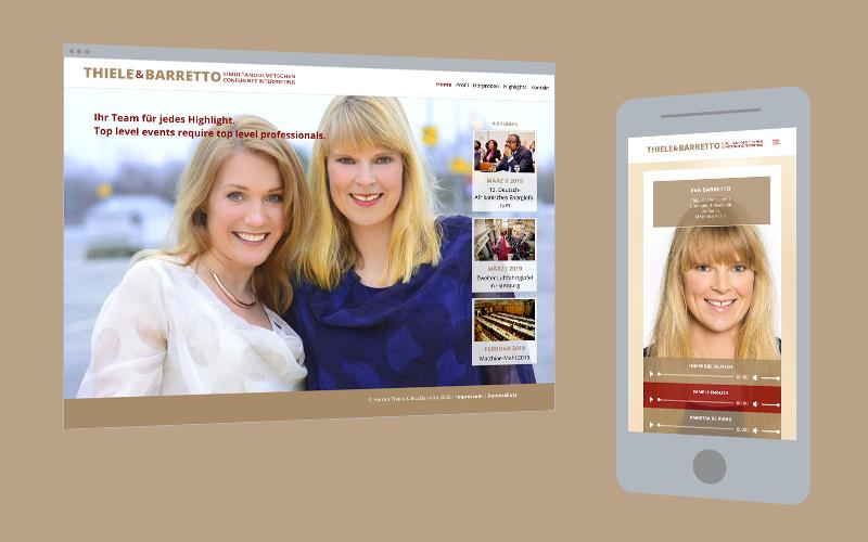 Web-Design: Simultandolmetscherinnen
