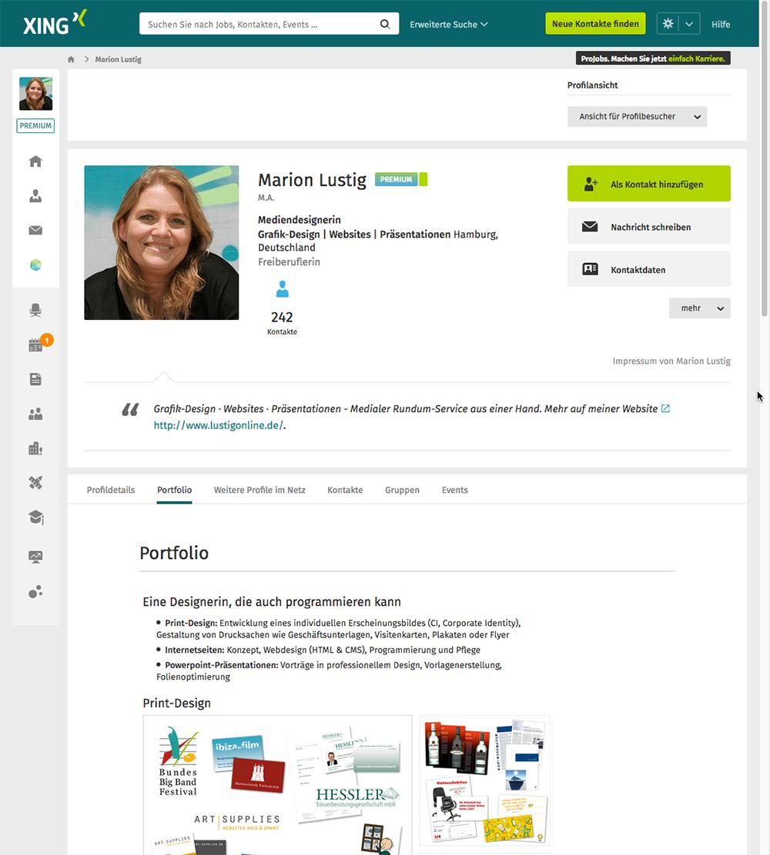 Xing-Profil Marion Lustig